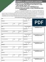 Formulário de Coleta de Assinatura de Ficha Limpa