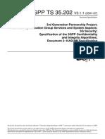 KASUMI Algorith - 3gpp Specification