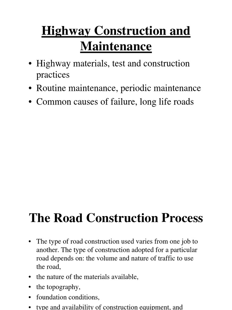 Highway Construction and Maintenance | Road Surface | Road