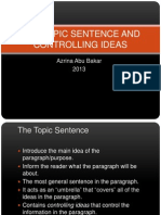 Topic sentence.ppt