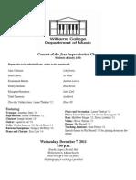 repertorio para jam jazz improvisation class concert