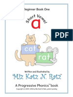 A Progressive Phonics Book (Revised - Single Page View) - Miz Katz N. Ratz