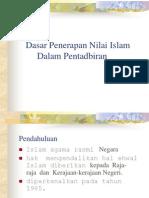 Topik 5 Dasar Penerapan Nilai Islam       Dalam Pentadbiran.ppt
