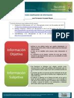 Calsificacion de La Informacion