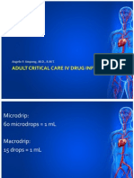 01 Critical Care IV Drug Infusions - Adult.ppt