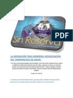 LA ADORACIÓN TRAE GOBIERNO, REEDIFICACIÓN DEL TABERNACULO DE DAVID. 2.docx