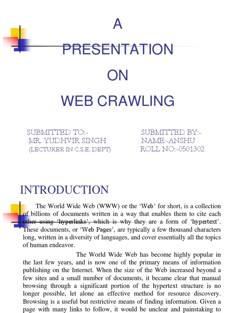 Download ppt crawler web