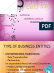 CRG530- DIFFERENT TYPES OF BUSSINESS ENTITIES