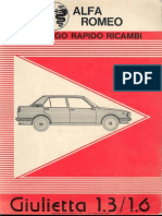 Giulietta Short Parts Manual