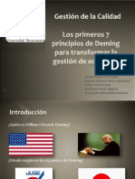 7 Principios de Deming