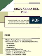 EJEMPLO DE DESARROLLO DE CARRERA -- FUERZA AÉREA DEL PERÚ (FAP)