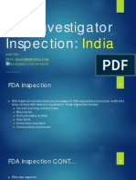 FDA Inspection In India (2005 - 2012)