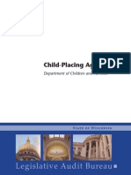 Wisconsin DCF Audit Child-Placing Agencies Oct 2013