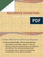 2 - Recursive Definition
