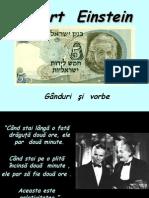 Albert Einstein - Ganduri si Vorbe