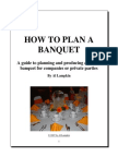 Banquet and Catering Plan and Managing Information
