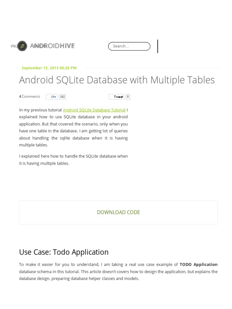 Android sqlite database with multiple tables example gamestrikefo Choice Image