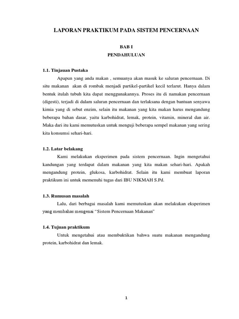 Laporan Praktikum Biologi Respirasi Pencernaan Urine Docx