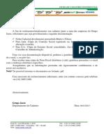 Ficha de Cadastro Confidencial Da Egc
