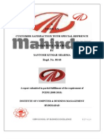 Project Report on Customer Satisfaction in M&M