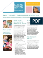 belonging being and becoming the early years learning framework for australia information for families