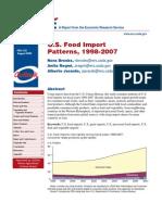 U.S. food import patterns