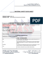 Wsd 101 Material Safety Data Sheet