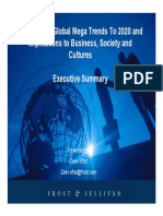 World's Top Global Mega Trends To 2020 and Implications to Business, Society and Cultures