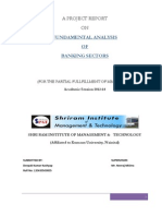 Fundamental Analysis of Banking Sectors