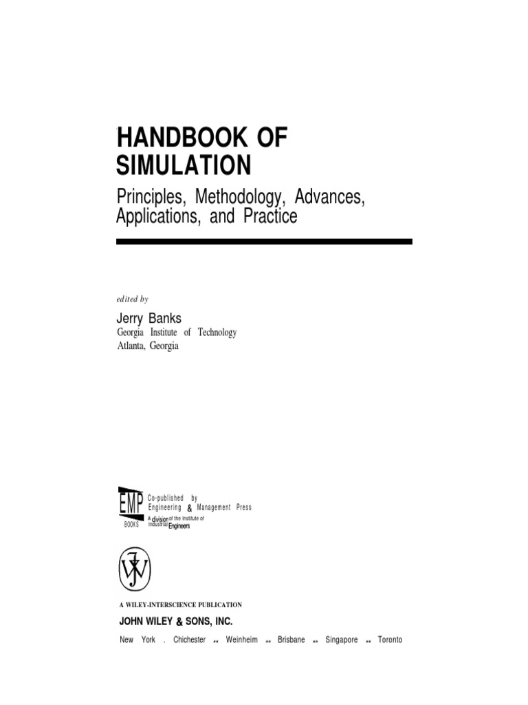 Simulation handbookpdf conceptual model simulation fandeluxe Image collections