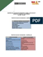 VAN CAN 2013 - Puestos Fijos de Vacunacion Barranco, Chorrillos y Surco.