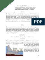 Generador Hidroeléctrico informe