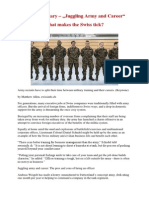 """Swiss Military – """"Juggling Army and Career"""" -  What makes the Swiss tick?"""