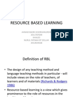 RESOURCE BASED LEARNING.ppt