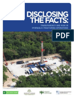 Transparency and risk in hydraulic fracturing operations