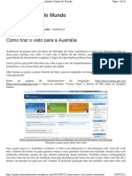 Como tirar o visto para a Austrália - Online Visitor (e600)