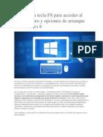 Habilitar f8 Windows 8