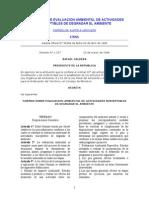 Normas Sobre Evaluacion Ambiental de Actividades Susceptibles de Degradar El Ambiente