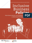 """""""Inclusive Business Policies - How Governments Can Engage Companies in Meeting Development Goals"""""""