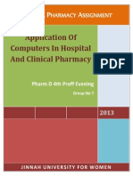 Application of Computers in Hospital and Clinical Pharmacy