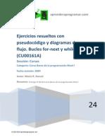 CU00161A Ejercicios Resueltos Diagramas Flujo Bucles for Next While Do