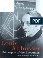 Althusser - Philosophy of the Encounter