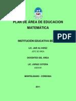 Plan de Estudios de Matematicas (Construccion)