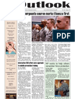 Outlook Newspaper  - 12 March 2009 - United States Army Garrison Vicenza - Caserma, Ederle, Italy