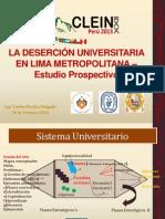 Desercion Universitaria CLEIN 2013 Cperalta