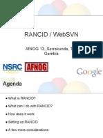 RANCID Presentation AfNOG 2012