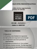 Presentacion FECOMI 2011-Responsabilidad Civil Precontractual