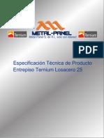 Lamina Acanalada Estructural Losacero 25 Steel Deck Ternium Boletin Tecnico Metal Panel