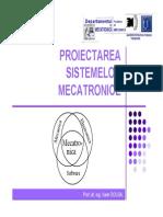 EVOLUTIA SISTEMELOR MECATRONICE