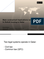 Main contractual implications related to Sukuk issuing in Qatar